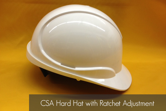CSA Hard Hat with Ratchet Adjustment