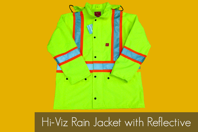 Hi-Viz Rain Jacket with Reflective