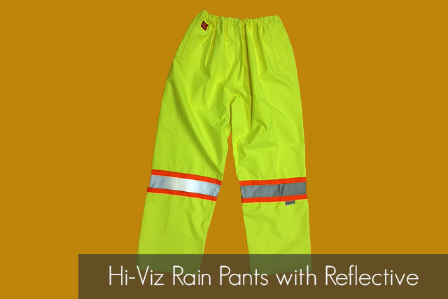 Hi-Viz Rain Pants with Reflective