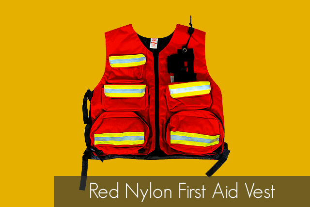 Red Nylon First Aid Vest